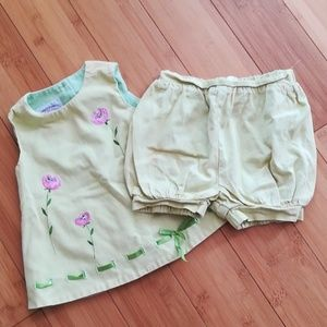 Vintage Tunic + Shorts Outfit 12m